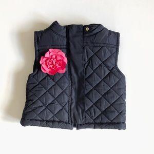 Girl's 24M OshKosh Flowered Puffer Vest
